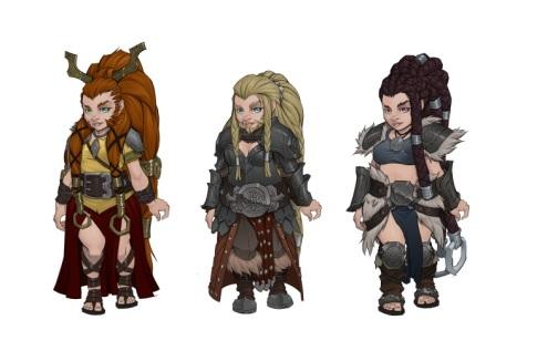 Female Dwarf Concept Art